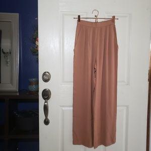 Pants - 100% Silk High Waist Trouser Pants